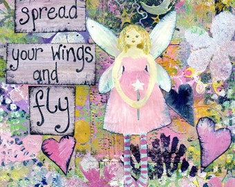 Spread your wings and fly. Greetings card