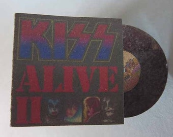Record Album Kiss Alive II - dollhouse miniature 1:12 scale