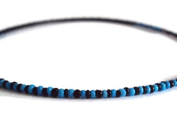 Ecofriendly Minimalist Necklace Blue & Black