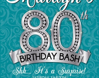 Eightieth Birthday Invitations is amazing invitations ideas