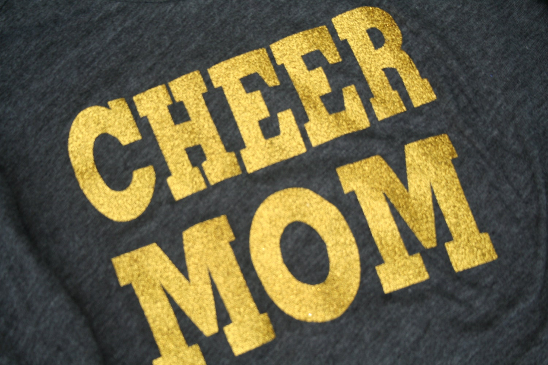 Glitter Cheer Mom Shirt