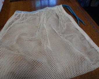 15 x 17 Nylon Mesh Drawstring Bag - for Marbles Toys Travel Laundry etc.