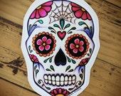Sugar Skull Vinyl Stickers