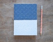Unique Handmade Floral Blue and White Datebook
