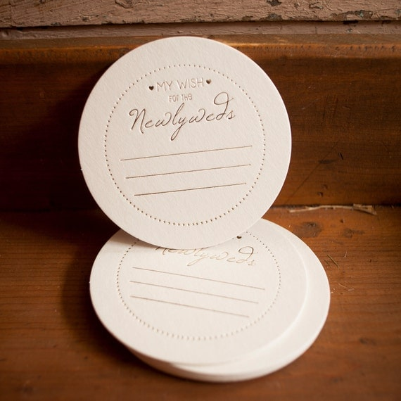 Wedding Advice Coasters - wish for the newlyweds, ivory and gold, gold foil,  weddings, coasters, favors, bridal shower, set of 50