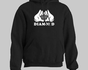 DIAMOND MICKEY HANDS hip hop drake Hoodie hooded sweatshirt sweat shirt