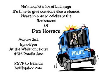 police retirement party invitations-854