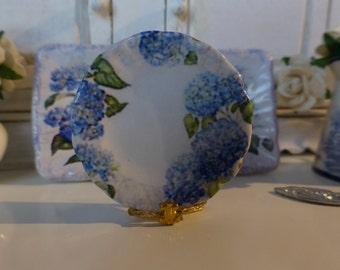 Hydrangeas Plate for Dollhouse