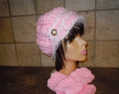 Extra Slouchy Crochet Newsboy Hat  adult, teen Oliver twist hat