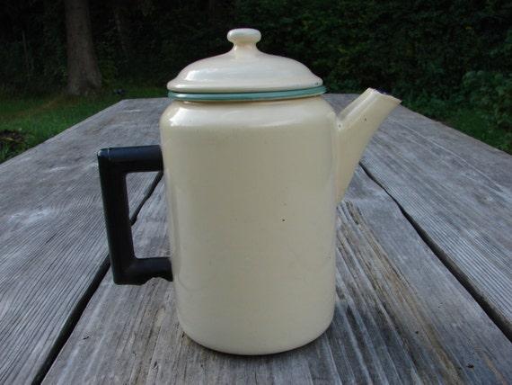 Kockum von Schweden Emaille Tee Wasserkocher 1 5l  Vintage ~ Wasserkocher Tee
