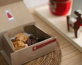 5   14.6x9.2x6cm Simple Kraft Paper  box cookie box chocolate box gift box candy box Muffin box Cake Box
