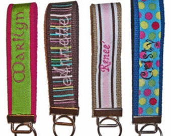 Create Your Own Personalized Embroideried Key Chain / Fob