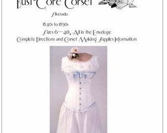 LMBJ02 - 1840s to 1890s Ladies' Victorian Corset  Sewing Pattern by Laughing Moon