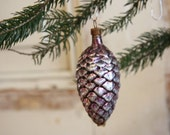 Colored Pinecone Christmas Ornaments - Mercury Glass - RetroKombinat