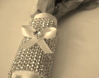 Bridal Bouquet Wrap,Wedding Bouquet Wrap,Rhinestone Crystal Bridal Wrap,Best Seller Wedding
