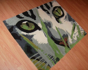 RUG- Kitten/ Cat Custom Tufted 100% Virgin Wool
