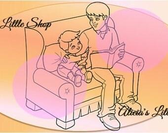 Father Digital Stamp