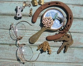 Rusty Patina Vintage Metal Found Objects for Mixed Media, Assemblage, Collage, Upcycle, Repurpose