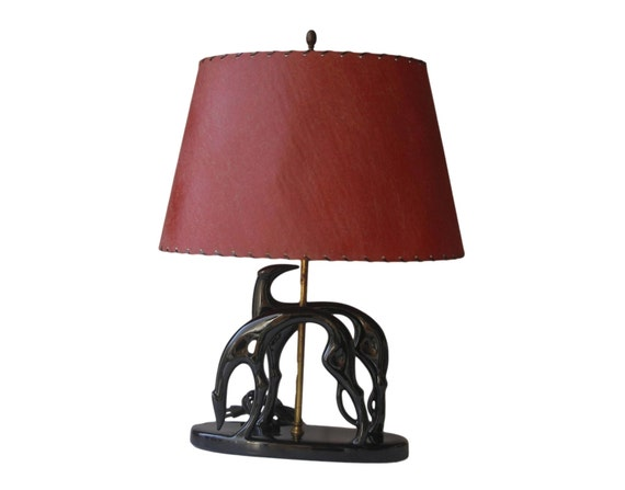 on hold royal hickman greyhound lamp with original red. Black Bedroom Furniture Sets. Home Design Ideas