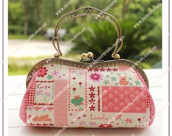 2pcs  19.5cm handle metal clutch purse frame ks-pf-yzy-08 KS-76