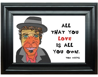 Tom Waits---Art Print