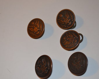 SALE - Vintage Military Uniform Buttons