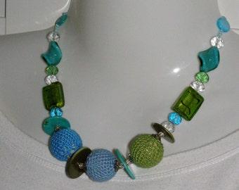 Choker turquoise cotton