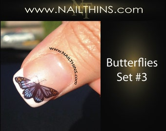 BUTTERFLIES Nail Decal Butterfly Set No 3 NAILTHINS nail designs butterfly