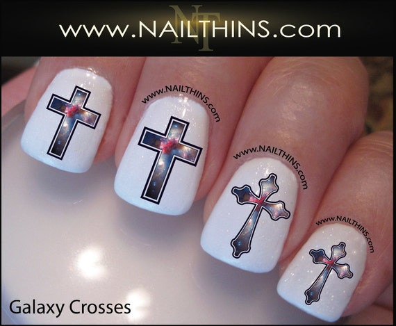 Like this item? - Galaxy Nail Decal Cross Star System Nails NAILTHINS Nail
