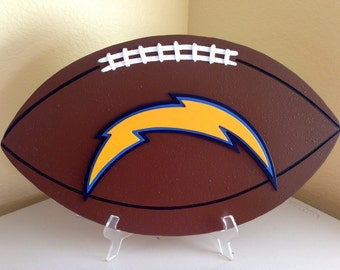 San Diego Chargers 3D Football Sign