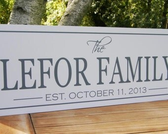 Personalized Family name sign, Holiday Sign, Christmas Signs, Custom Signs, Family Established Sign, Personalized Signs, Custom Wood Signs