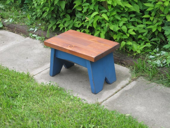 Items Similar To Wooden Step Stool Small Wooden Bench