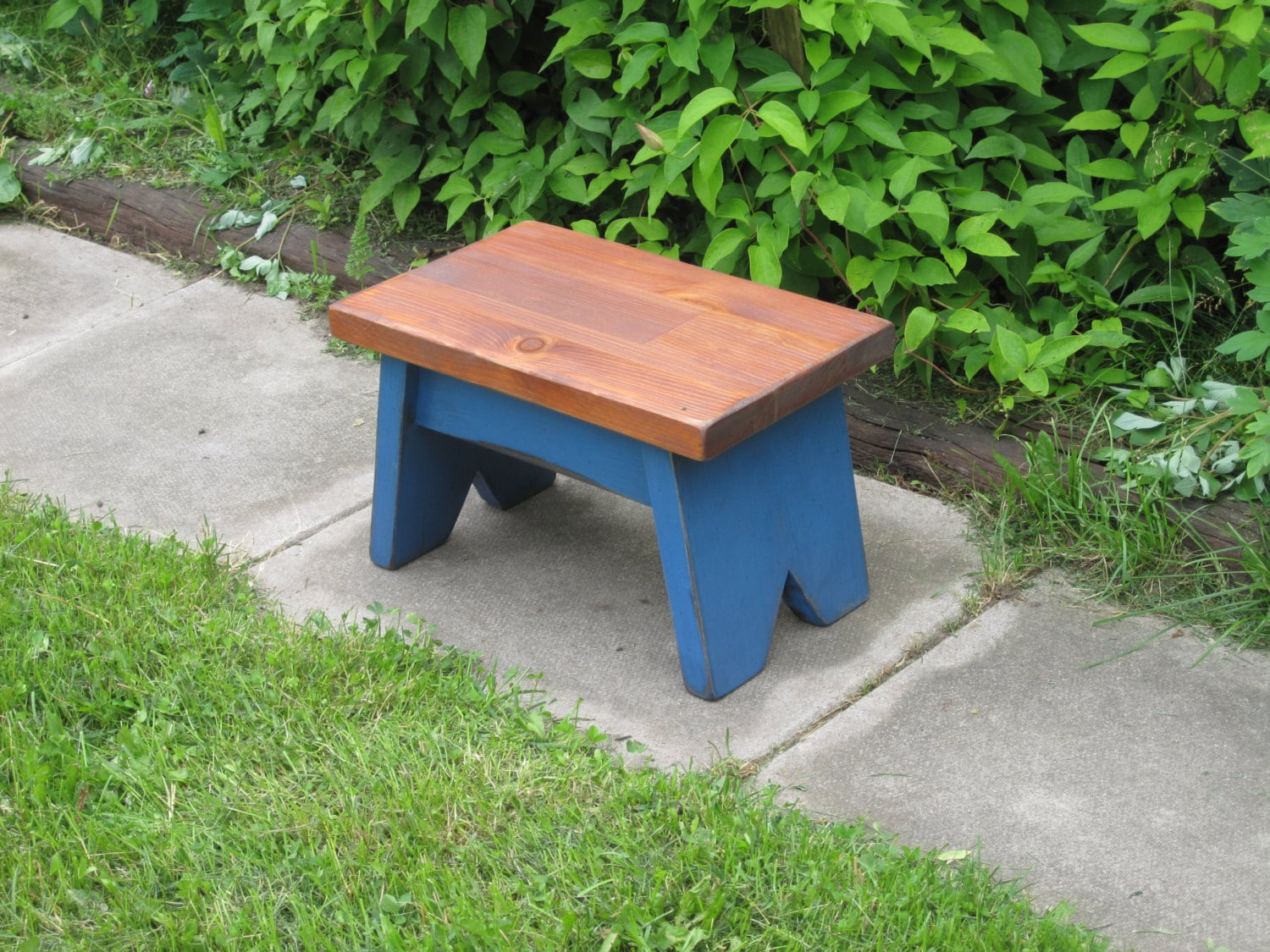 Wooden Step Stool Small Wooden Bench By