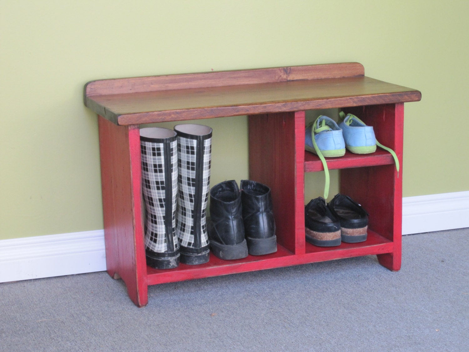 Wooden shoe bench 30 shoe rack entry by harvesttreasuresinc 30 bench