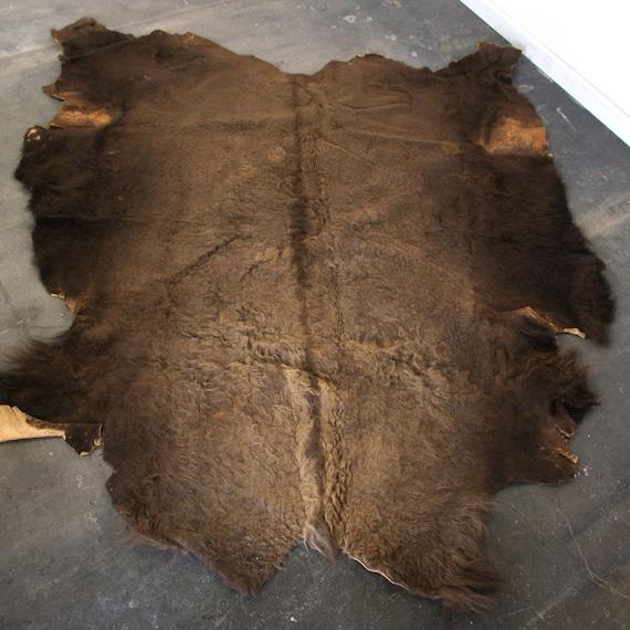 Buffalo Hide Rug Bison Pelt Hair On Hide