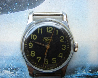 Vintage Mens Wrist Watch POBEDA / Russian Vintage Mens Wrist Watch ZIM / Mechanical watch / USSR / Soviet Union