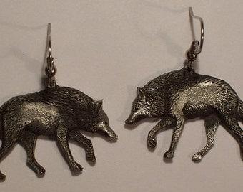 new Design................. Wolf  ...............earrings