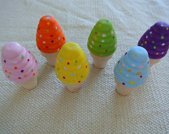 Last one- Montessori Waldorf Inspired Rainbow Ice Cream Summer Treats Toys-Last one one sale