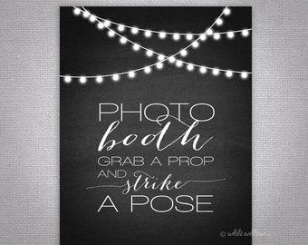 Wedding Photo Booth Sign (Chalkboard) (Printable File Only); Printable Wedding Signs; Printable Photo Booth Sign; Printable Chalkboard Sign