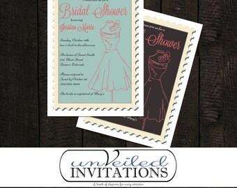 Printable Bridal Shower Invitation - Boutique