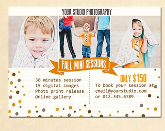 INSTANT DOWNLOAD Fall Mini Session template - MA072