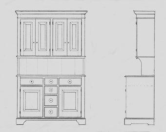 Stepback Pine Cupboard