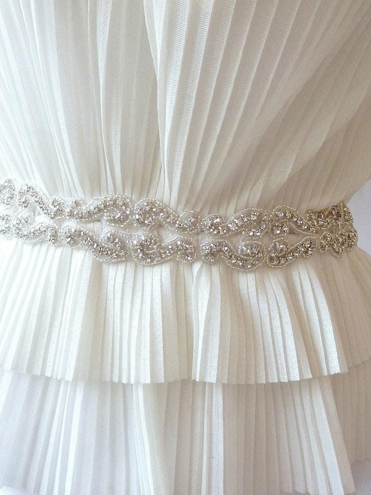 Bridal Sash Jeweled Sash Wedding Sash
