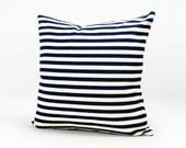 Decorative Housewares Throw Pillow Sapphire Blue Herringbone Stripe Pillow Cover Cotton Cushion Case Hidden Zipper Closure Customized 1923