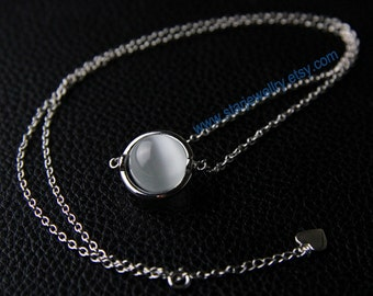 Moonstone necklace bella nature moonstone necklace---925sterling necklace