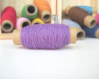 15 yards Solid Purple Bakers Twine - 15 yards on each spool - purple twine - purple cotton
