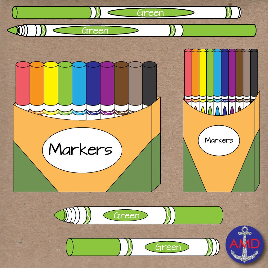 Back to School Markers Clip Art School Supplies CrayolaCrayola Marker Clip Art