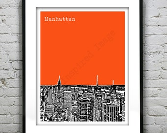 Manhattan New York City Poster Print Art  Brooklyn Bronx Times Square Soho