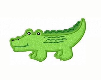 Alligator Applique Machine Embroidery Design NO:0071