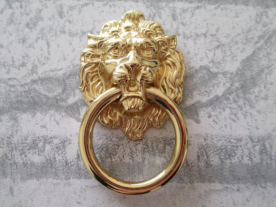 Lion Drawer Pull Knobs Handles Dresser Drop Pulls Silver